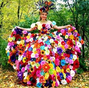 Floral Dress ( Prom, Faire and more..)